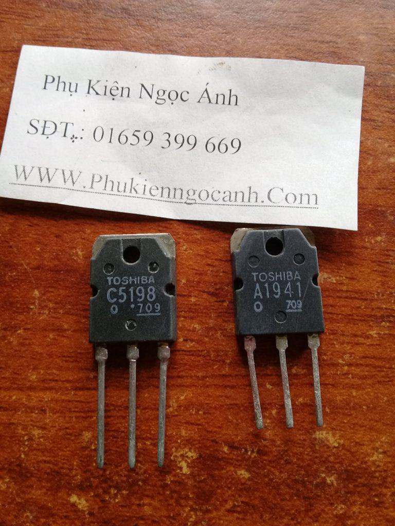 Cặp sò Transistor C5198 A1941 Toshiba,Sò C5198,Sò A1941
