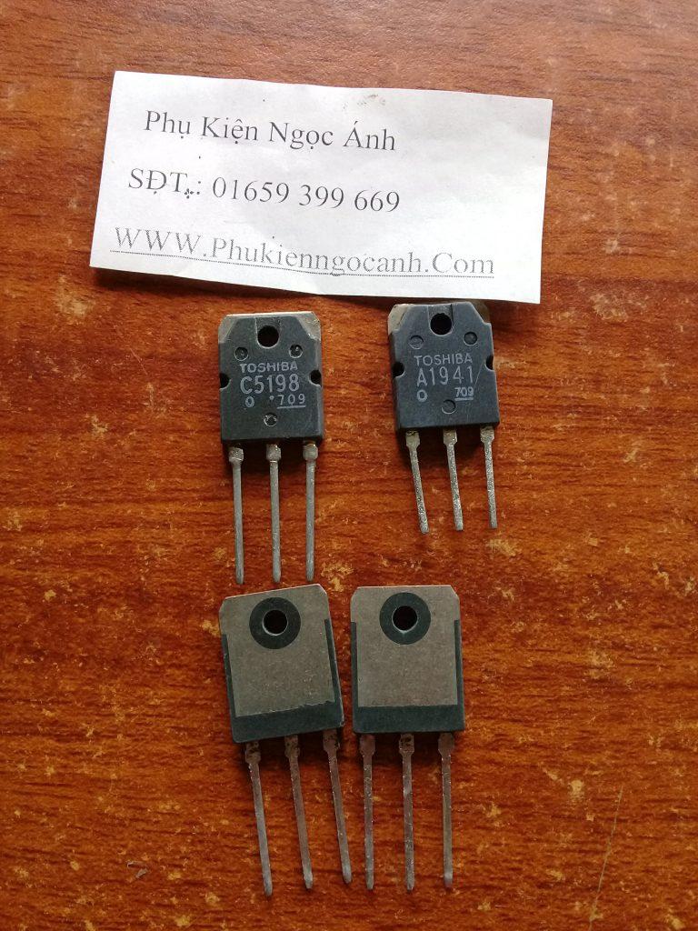 Cặp sò Transistor C5198 A1941 Toshiba,Sò C5198,Sò A194111