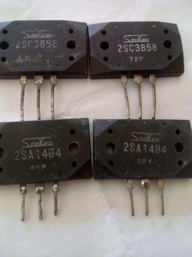 Transistor Sò Sanken 2SC3858 2SA1494 tháo máy,sanken 2SC3858,Sanken 2SA1494