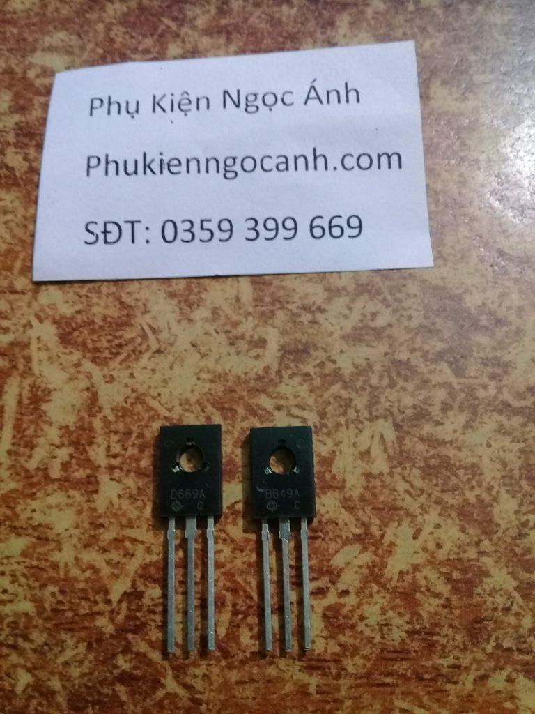 Cặp sò Transistor B649 D669, b649,d669,transistor d669,2sd669
