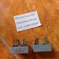 Cầu chỉnh lưu KBPC3510 một pha cầu 35A1000V Giá 12kcái1