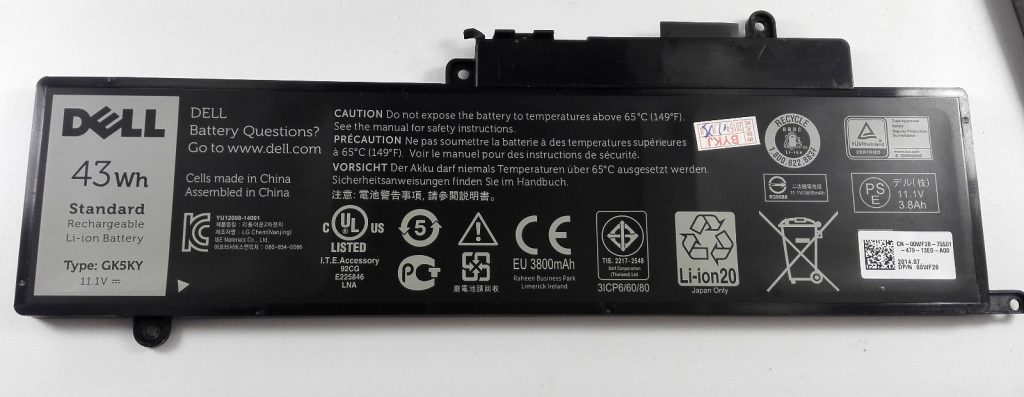 Pin Dell Inspiron 3147